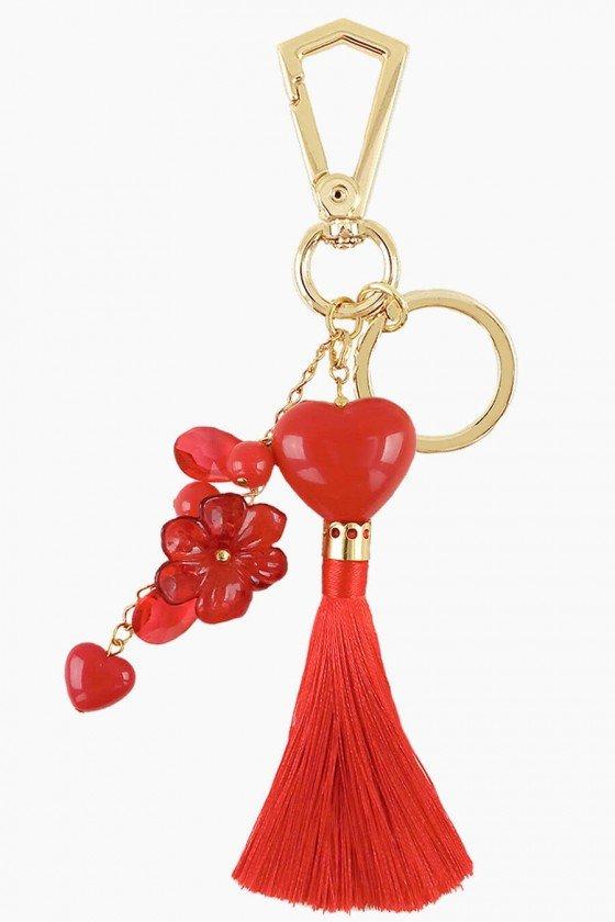 Chaveiro Sweet Lucy Coração Nivia Tassel Vermelho