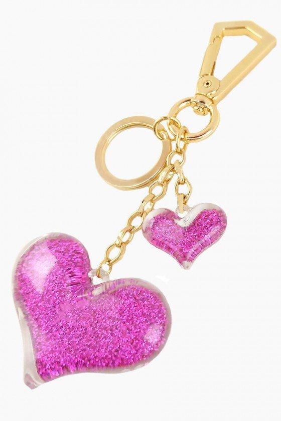Chaveiro Sweet Lucy Glamour Ranny Coração Rosa