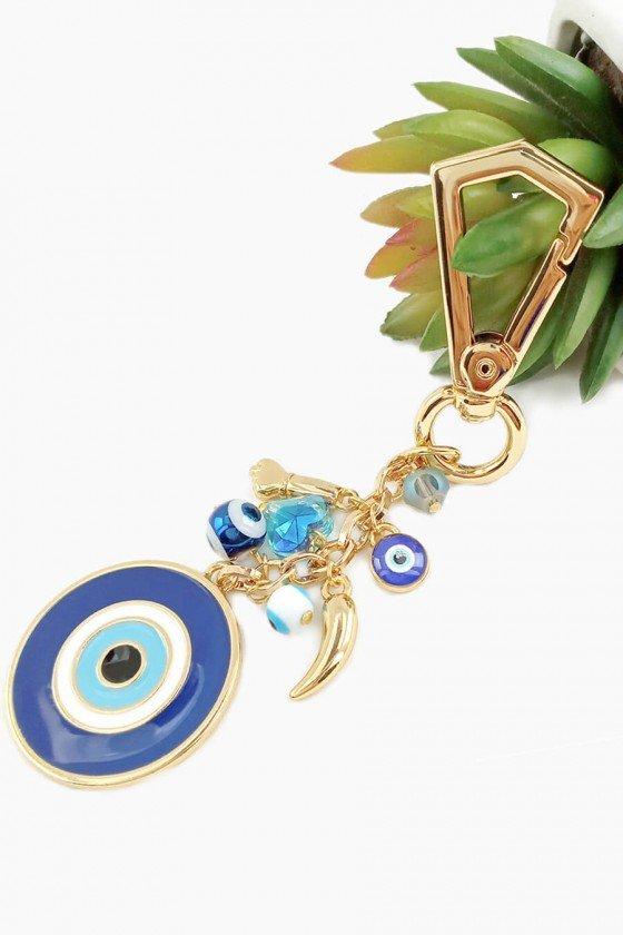 Chaveiro Sweet Lucy Proteção Noah Olho Grego Azul