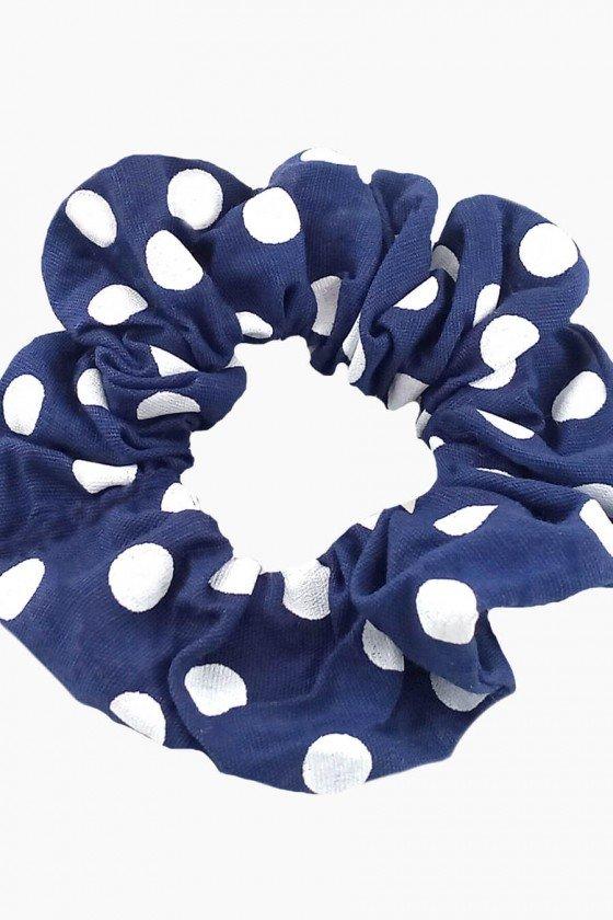 Scrunchie Sweet Lucy Donut Raiene Azul Marinho Poá