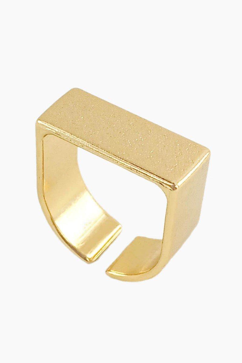 anel feminino dourado regulavel