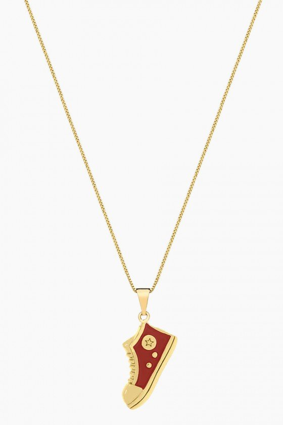 Colar Sweet Lucy Cleo Tenis Banhado a Ouro 18K