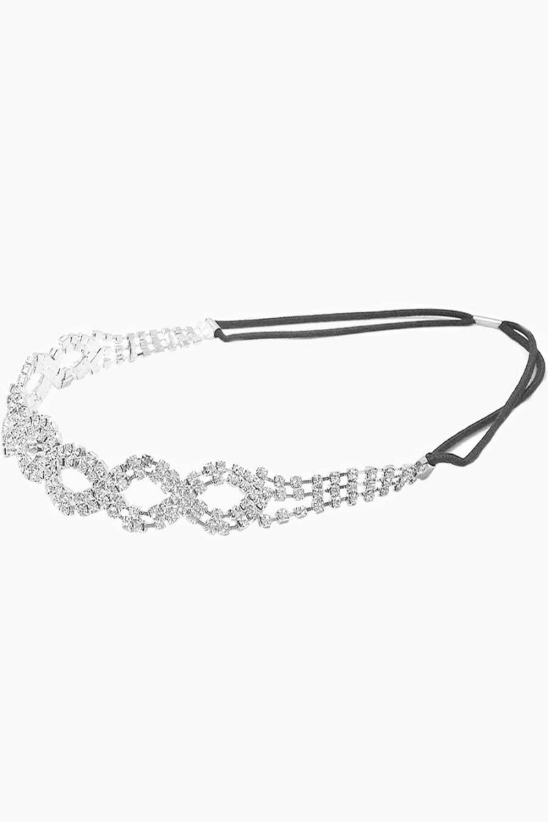 headband strass prata headband feminino sweetlucy