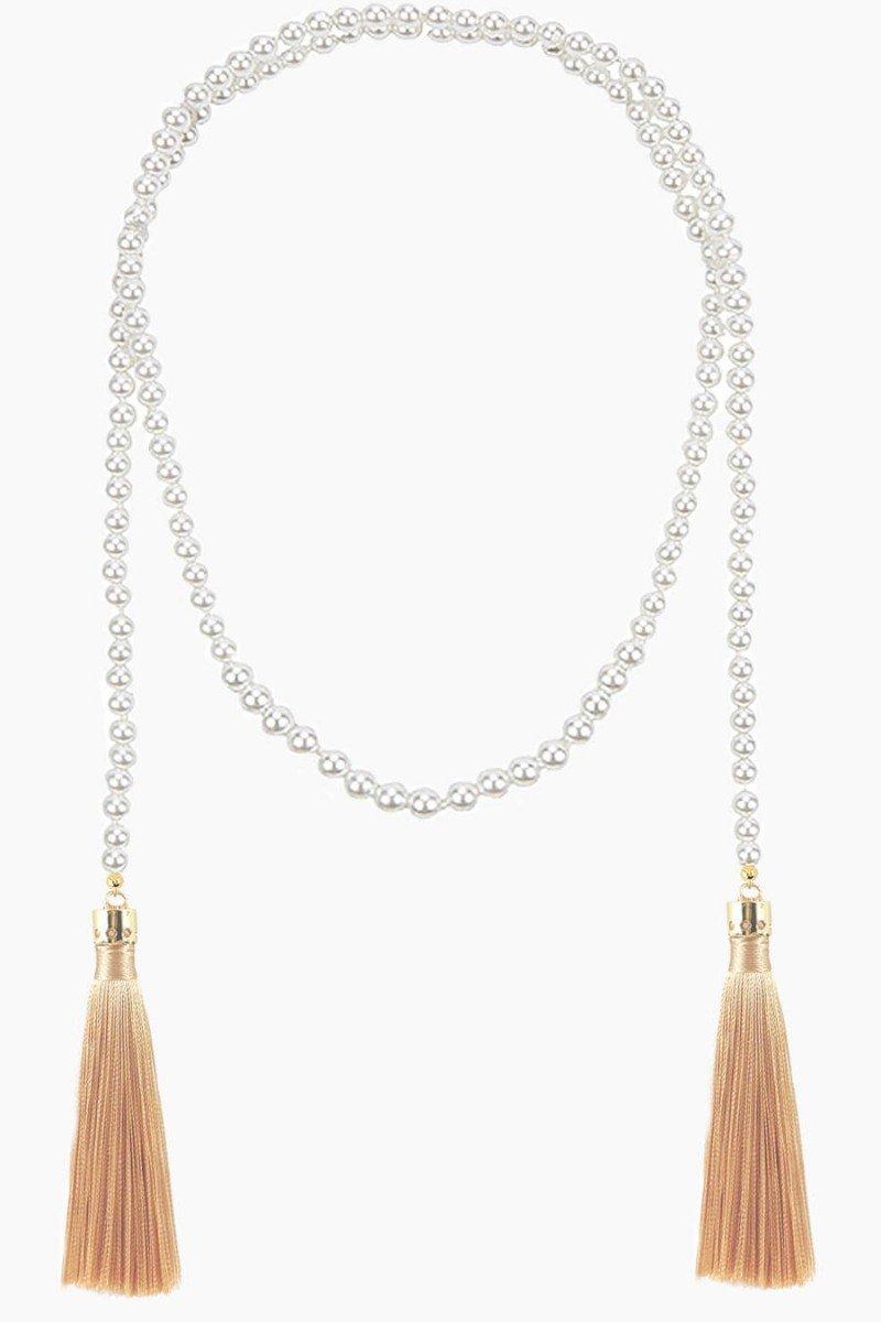colar longo com perolas colar de franja colares sweetlucy