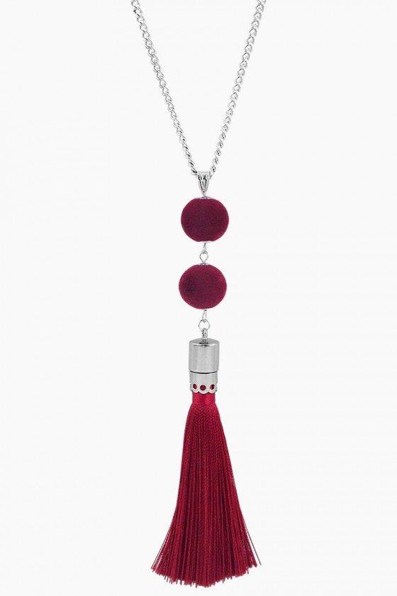 colar de franja vermelha colar comprido com franja colar vermelho colares sweetlucy