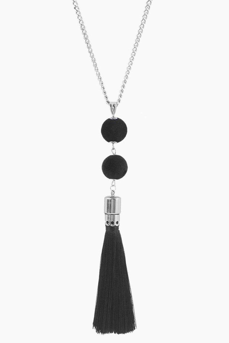 colar longo com franja preta colares sweetlucy comprar colares compridos