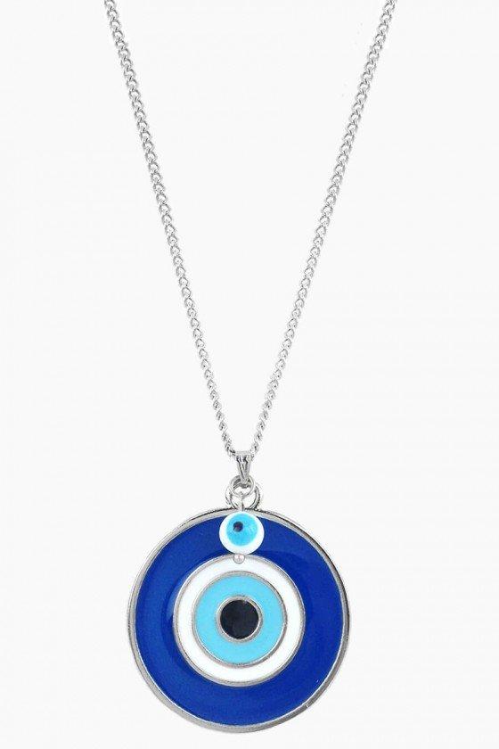 colar comprido olho grego prata colares longos sweetlucy