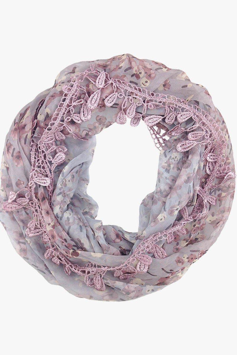 lenço gola floral delicado lenços femininos sweetlucy