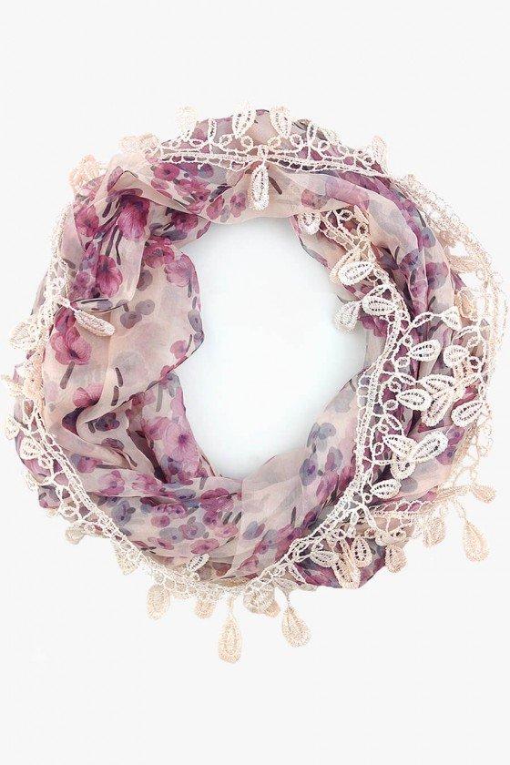 lenço gola feminino floral lenços femininos swetlucy