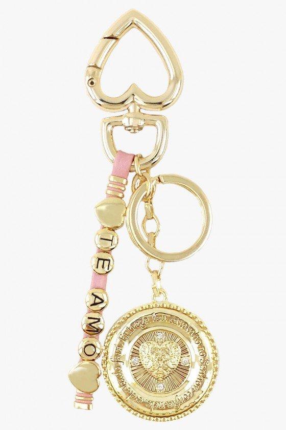 chaveiro de luxo dourado chaveiro religioso chaveiros femininos sweetlucy