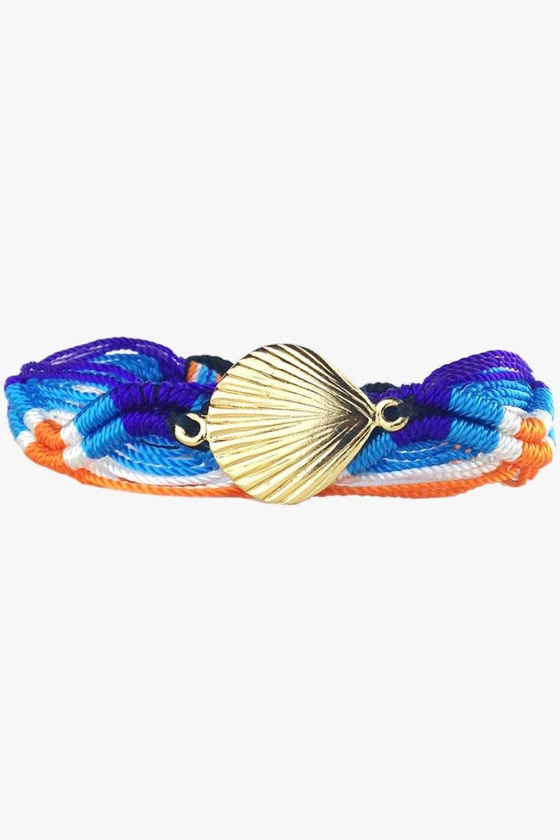 pulseiras de cordão concha dourada pulseiras sweetlucy