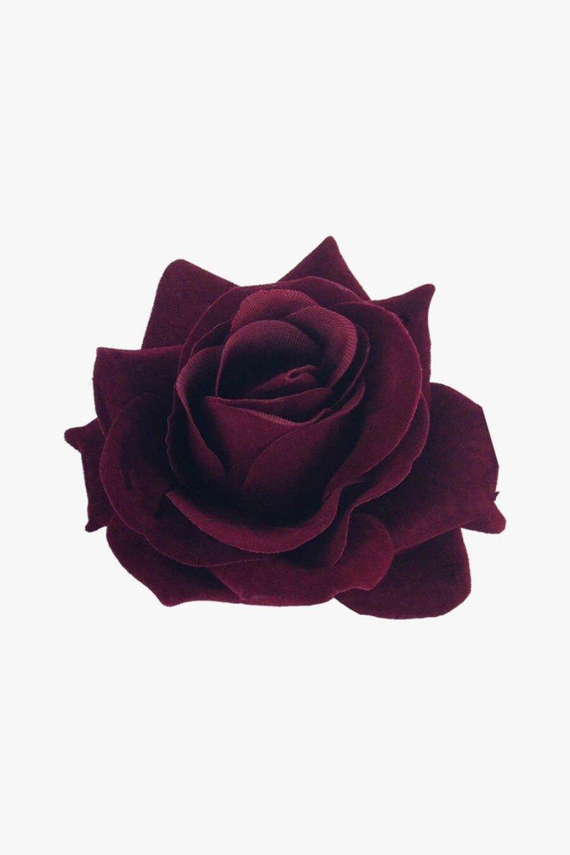 rosa vermelha para cabelo presilha de cabelo rosa vermelha sweet lucy
