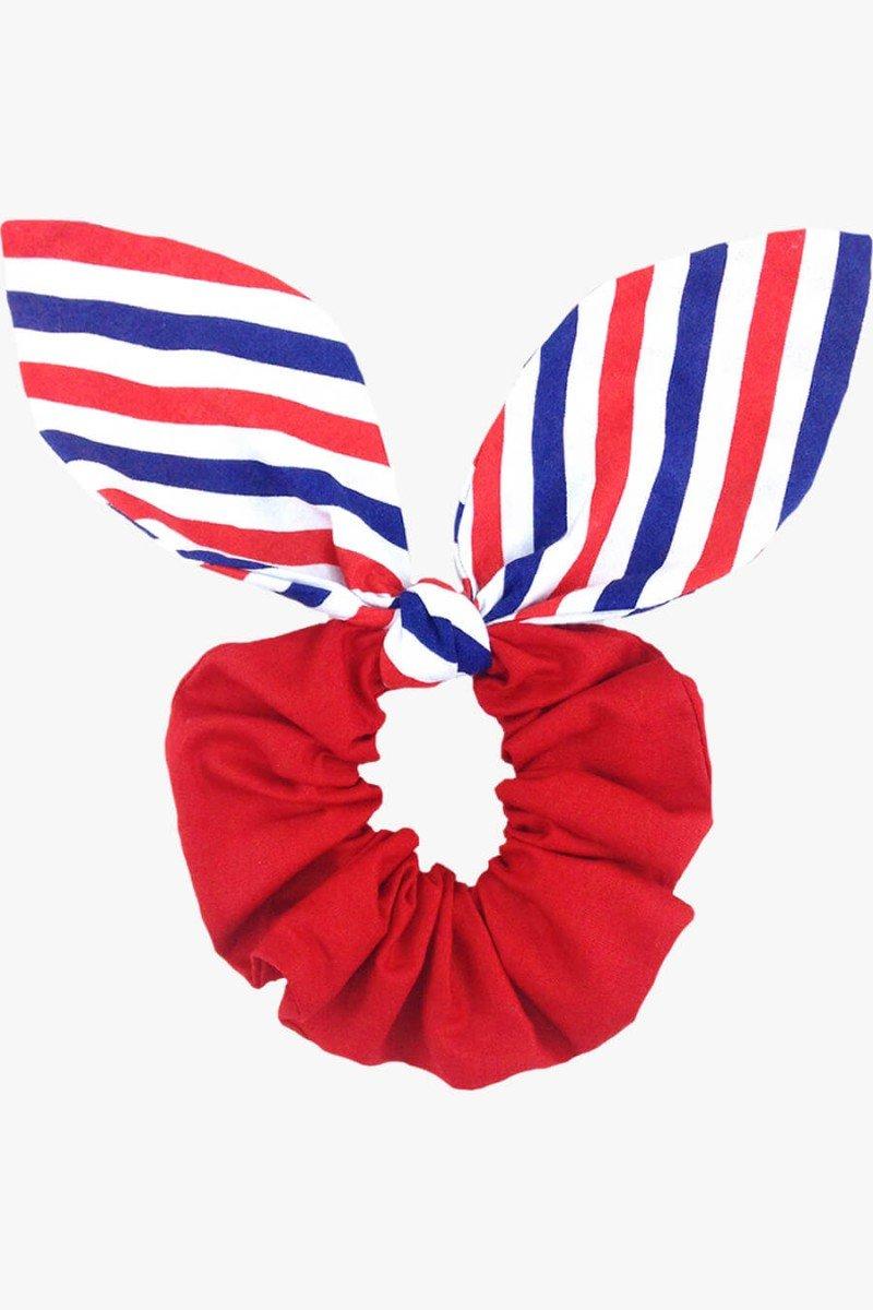 scrunchie com laço vermelho scrunchies sweetlucy