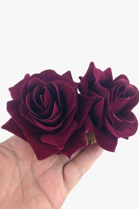 Prendedor Sweet Lucy de Cabelo Melody Rosas Vermelhas