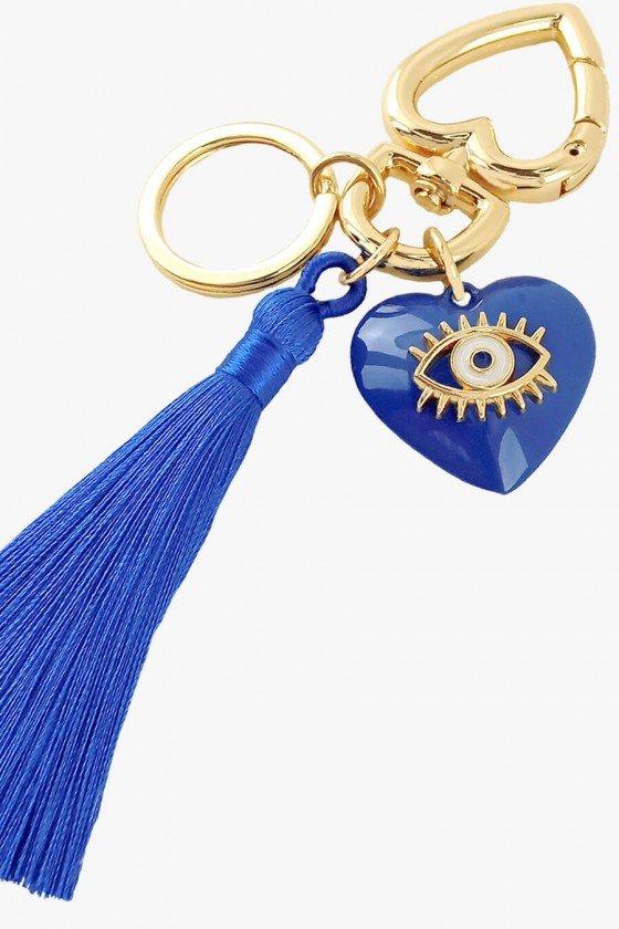 Chaveiro Sweet Lucy Coração Zoé Olho Grego Azul Royal