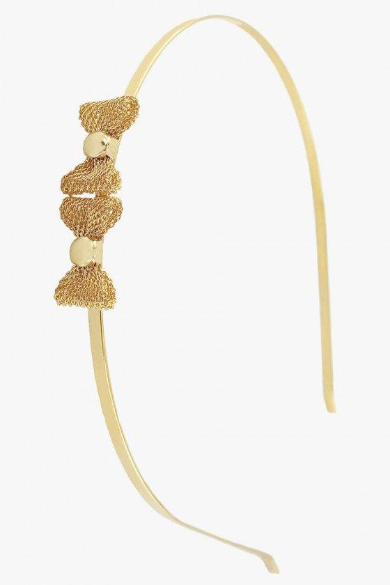 tiara dourada de lacinho tiaras sweetlucy