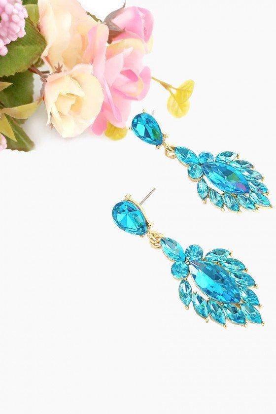 brinco dourado e azul bijuteria brincos sweet lucy