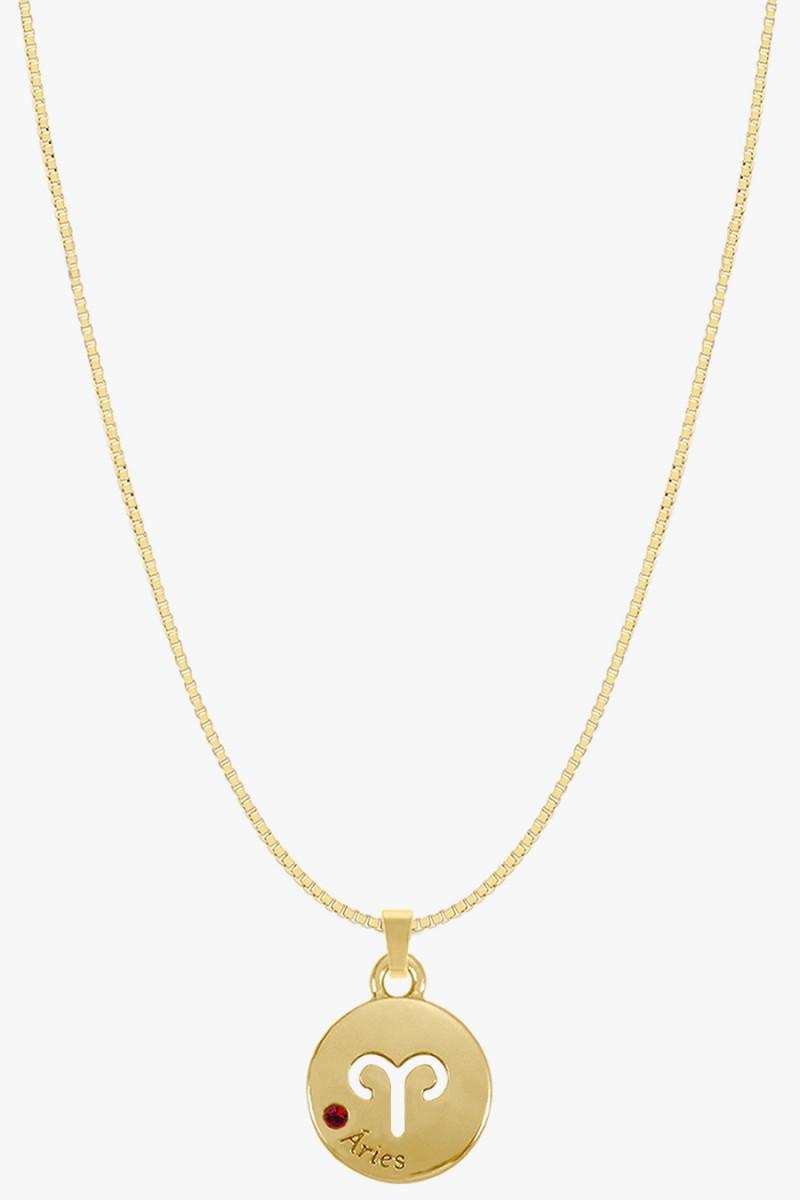 colar signo de aries banhado a ouro colar zodiaco aries colares sweet lucy