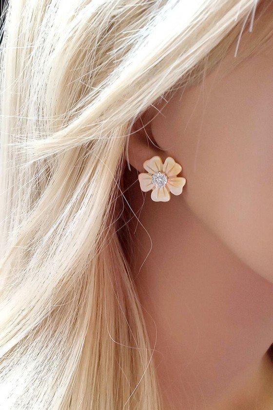 brinco pequeno de flor semijoia brinco sweetlucy