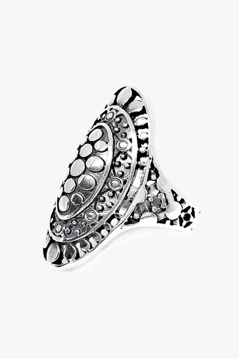 anel grande de prata 925