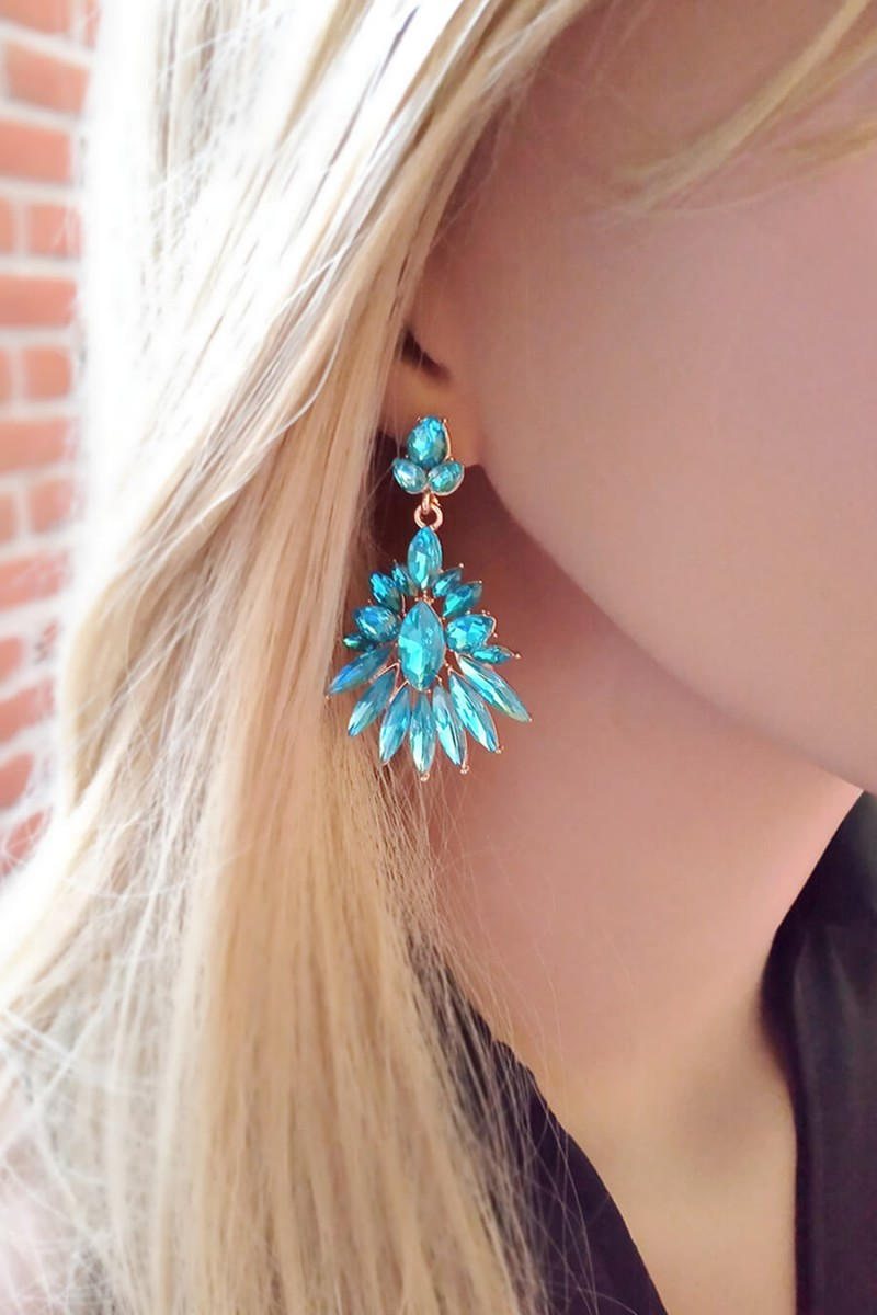 Headband Feminino Pedras Azul Headbands para Cabelos Sweet Lucy