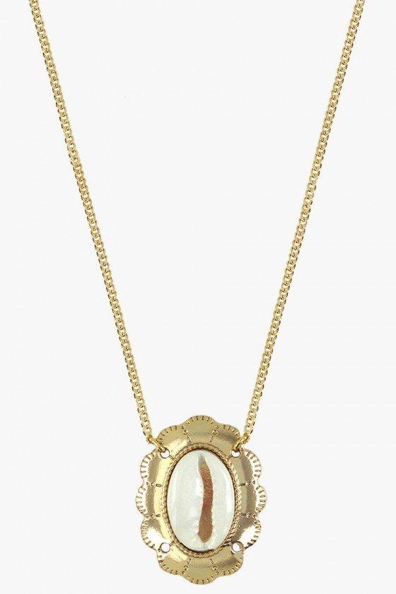 colar camafeu sweet lucy colar pingente buzio dourado colares femininos sweet lucy