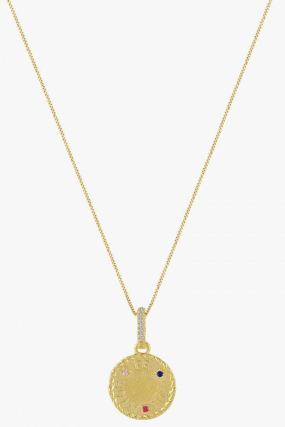 colar medalha amor fé luz colar religioso colar feminino sweet lucy