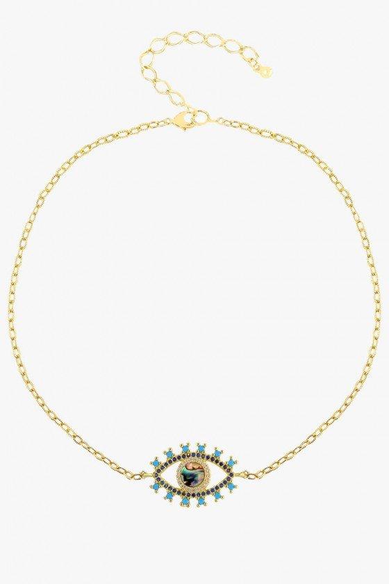 Headband Feminino Dourado com Pedras e Strass