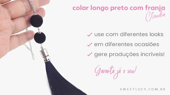 colar longo com franja colares sweet lucy